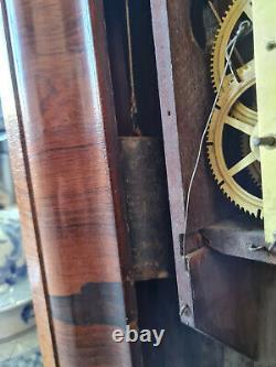 Seth Thomas Antique 1860's Weight Driven Pendulum Wall Clock