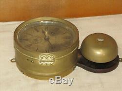 Seth Thomas Antique Ships Bell Clock. 1889chelsea Key