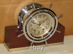 Seth Thomas Antique Ships Bell Clock4 Inships Wheel. 1948chelsea Keymint