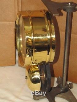 Seth Thomas Antique Ships Bell Clock6 In. Dial1884chelsea Keyseldom Seen MDL