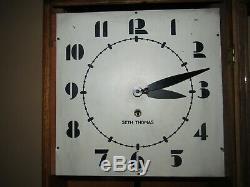 Seth Thomas Art Deco Time Wall Regulator Clock 8-day, Key-wind