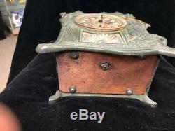 Seth Thomas Art Nouveau Clock With Key And Pendulum
