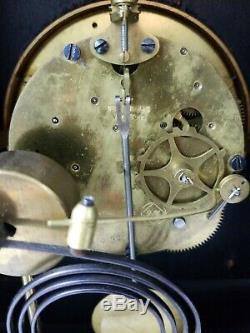 Seth Thomas Bee 1881 Antique Fine Cabinet Mantle Clock Ebonized Walnut With Key