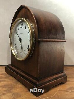 Seth Thomas Beehive Tombstone 8 Day Prospect Matel Table Shelf Clock