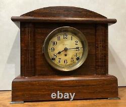 Seth Thomas Belmont No. 2 Adamantine 8 Day Mantel Table Shelf Clock