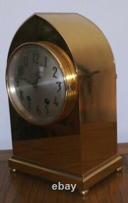 Seth Thomas Brass Beehive Case Clock