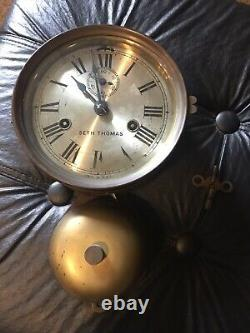 Seth Thomas Brass Bottom Bell Ship Clock