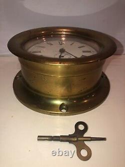 Seth Thomas Brass Ship Clock