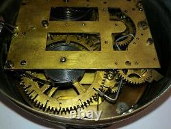 Seth Thomas Brass Ship's Clock With Outside Bell
