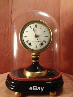 Seth Thomas Candle Stick Clock with Dome 8 Day Time and Strike