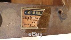 Seth Thomas Chime Clock No. 100 Walnut