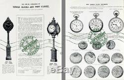 Seth Thomas Clock Co 1907 CATALOG Antique Time Pieces 100s Samples mantel + more