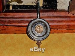 Seth Thomas Co. Shelf Clock, Nashville Model, 1880, Wood, Roman Numerals, Chimes, Key