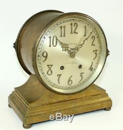 Seth Thomas Denton Ships Bell Clock Seven Jeweled Eight Day Clock Bd02