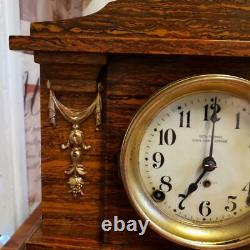 Seth Thomas Ding Dong Strike No. 2 Adamantine Mantle Clock