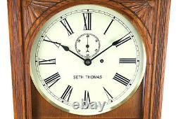 Seth Thomas Double Dial Perpetual Office Calendar Regulator #13 Wall Clock