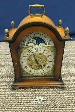 Seth Thomas E704 A206 Mantel Clock Moon Phase Lunar Key Wound Chime 8 Day Wind