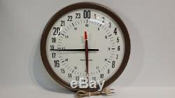 Seth Thomas E899-942A Electronic 24 hour dial clock Vintage Military Tested