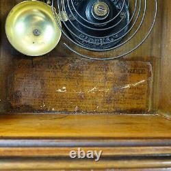 Seth Thomas Eclipse Antique Shelf Clock Original Painted Dial Glass