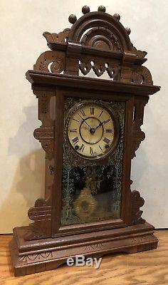 Seth Thomas Eclipse Ball Top Kitchen Parlor Gingerbread Mantle Clock