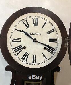 Seth Thomas George Hatch Reproduction Figure 8 Eight Wall Clock
