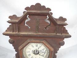 Seth Thomas Gingerbread Kitchen Clock 5 7/8 Movement, Geneva Stops, Alarm