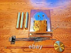 Seth Thomas Grandfather Complete Clock Movement Face Pendulum Chime Rods Weights