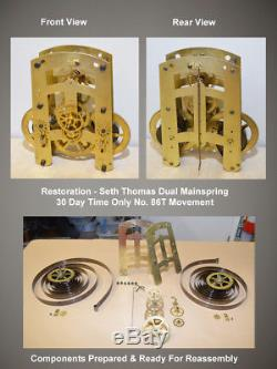 Seth Thomas Hudson 1921 Hanging 30 Day Run Antique Clock In Grained Mahogany
