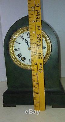 Seth Thomas Kaiser 15 day Brass cased clock with Original patina finish