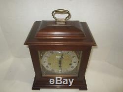 Seth Thomas Legacy-3W Quarter Hour Westminster Chime Bracket Clock 8-day
