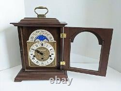 Seth Thomas Mantel Clock German Moon Phase Chime 1219-001 Walnut Wharton Talley