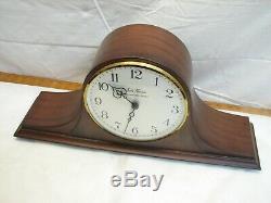 Seth Thomas Medbury 6E Tambour Camel Back Shelf/Mantle Westminster Chime Clock