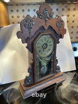 Seth Thomas Metals No. 1 Antique Eastlake Parlor/Kitchen/Mantel Clock