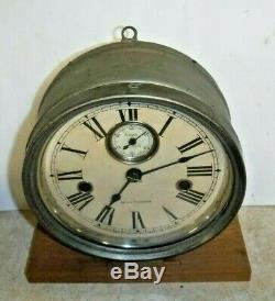 Seth Thomas Navy / Engine Room 8 Day Lever-action Wall Clock