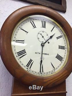 Seth Thomas No. 2 Weight Driven Regulator Wall Clock MAKE OFFER