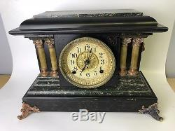 Seth Thomas No 3 Adamantine 4 Column Mantle Clock with 4 1/2 movement