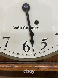 Seth Thomas Office Regulator #6 Standard Time 1895 Circa Tiger Oak Case Works