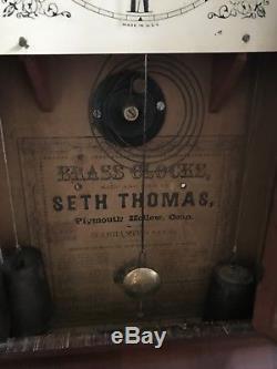 Seth Thomas Ogee Box Clock, 30 hour, Mahagony Case, Nice Design
