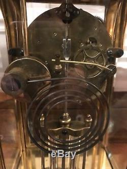 Seth Thomas Orchid 4 Crystal Regulator Original Genuine Mercury Pendulum c. 1909