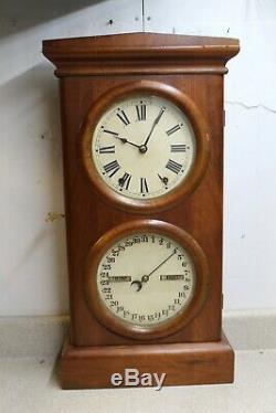 Seth Thomas Parlor Calendar No. 3 8 Day Time & Strike Double Dial Calendar Clock