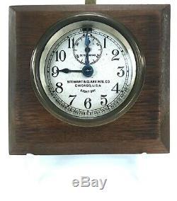 Seth Thomas Phinney-Walker Stewart & Clark Mfg Co Auto Car Brass Clock Antique