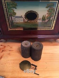 Seth Thomas Pillar And Scroll Wood Works Movement Rare Label