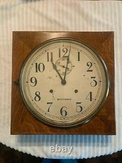 Seth Thomas Quartered Oak Office No. 11 Wall Clock