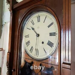 Seth Thomas Queen Anne Walnut Wall Clock