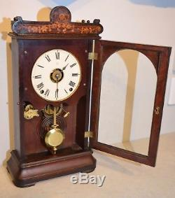 Seth Thomas Rare Oregon 1885 Antique City Series Cabinet Clock In Cocobola