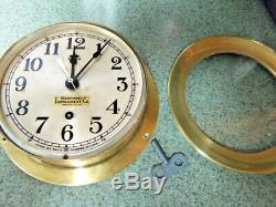 Seth Thomas Rare WWII Ships Bulkhead Clock Northwest Industries Seattle Superb