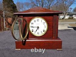 Seth Thomas Red Adamantine Antique Mantle Shelf Clock Original Painted Dial