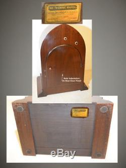 Seth Thomas Restored Extraordinary Antique Chime Clock 70-1928 In Mahogany