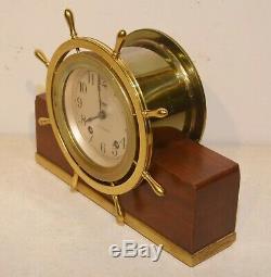 Seth Thomas Restored Mayflower 3 1939 Antique Ship's Bell Strike Clock