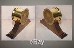 Seth Thomas Restored Mayflower 3-1940 Ships Bell Strike Clock In Fine Brass Case